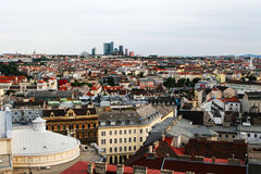 Aerial view of Vienna. View from above the city Royalty Free Stock Photo