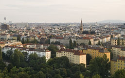 Aerial View of Vienna. Aerial view of the city of Vienna (Austria Royalty Free Stock Photo