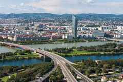 Aerial View Of Vienna City Royalty Free Stock Photos