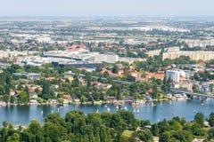 Aerial View Of Vienna City Stock Photo