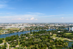 Aerial View Of Vienna City Stock Photography