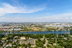 Aerial View Of Vienna City Royalty Free Stock Images