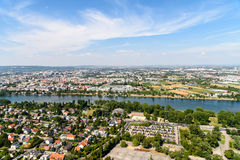 Aerial View Of Vienna City Royalty Free Stock Image