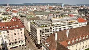 Aerial View Of Vienna City Skyline stock footage