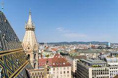Aerial View Of Vienna City Skyline From Stephansdom Cathedral Stock Photos
