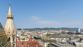 Aerial View Of Vienna City Skyline From Stephansdom Cathedral Royalty Free Stock Photography