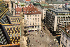 Aerial View Of Vienna City Skyline From Stephansdom Cathedral Royalty Free Stock Photo