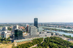 Aerial View Of Vienna Skyline Royalty Free Stock Images