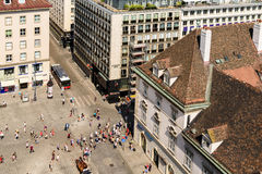Aerial View Of Vienna From Stephansplatz Square Royalty Free Stock Photography