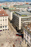 Aerial View Of Vienna From Stephansplatz Square stock photography