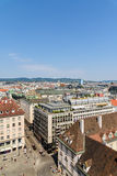 Aerial View Of Vienna From Stephansplatz Square royalty free stock photos