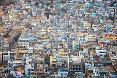 Aerial view of Vijayawada city in India Stock Photos
