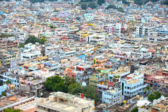 Aerial view of Vijayawada city in India Royalty Free Stock Photo