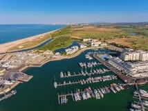 Aerial view of Vilamoura marina. Royalty Free Stock Photos