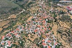 Aerial view of village of Chrysafa Lakonias Stock Images