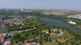 Aerial view of a village from drone Royalty Free Stock Photos