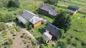 Aerial view of village estate near the Pereslavl-Zalessky city, Royalty Free Stock Images