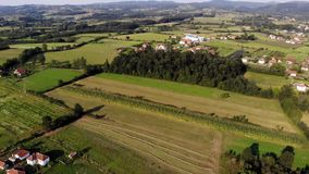 Aerial View Of Village Gruza stock video footage