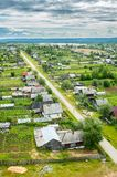 Aerial view of village from high point Royalty Free Stock Image
