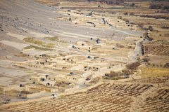 Aerial View of a Village in Kandahar Province Royalty Free Stock Photos