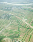 Aerial view of village landscape near to shanghai Stock Image