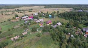 Aerial view of village near the Pereslavl-Zalessky city, Yarosla Royalty Free Stock Photos