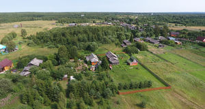 Aerial view of village Stock Images