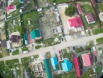 Aerial view of village seen from above Stock Photo