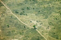 Aerial view of south sudan village Stock Photos