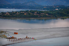 Aerial view of Villasimius beach, Sardinia, Italy Royalty Free Stock Photos
