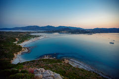 Aerial view of Villasimius beach, Sardinia, Italy Royalty Free Stock Images