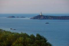 Aerial view of Villasimius beach, Sardinia, Italy Royalty Free Stock Image