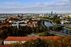 Aerial view of Vilnius, Lithuania Stock Images