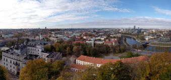 Aerial view of Vilnius, Lithuania Royalty Free Stock Image