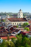 Aerial View of Vilnius Stock Images