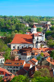 Aerial View of Vilnius Royalty Free Stock Photography