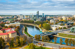 Aerial view of Vilnius, Lithuania in autumn Royalty Free Stock Photos