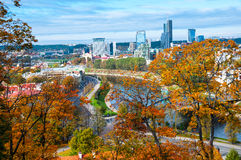 Aerial view of Vilnius, Lithuania in autumn Royalty Free Stock Photo