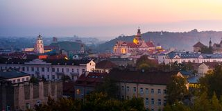 Aerial view of Vilnius, Lithuania stock image