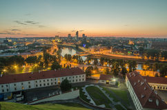 Aerial view of Vilnius, Lithuania Royalty Free Stock Images