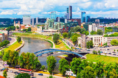 Aerial view of Vilnius, Lithuania Royalty Free Stock Photos
