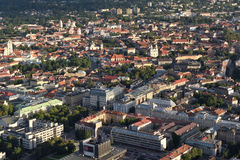 Aerial view of Vilnius Old Town Royalty Free Stock Photo