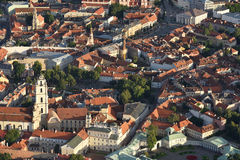Aerial view of Vilnius Old Town Royalty Free Stock Photos