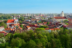 Aerial View of Vilnius Royalty Free Stock Photos
