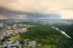 Aerial view of Vilnius taken from a tv tower Royalty Free Stock Photos