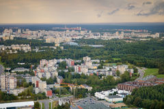 Aerial view of Vilnius taken from a tv tower Stock Photo