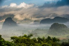 Aerial View of the Vinales Valley in Cuba. Royalty Free Stock Photo
