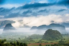 Aerial View of the Vinales Valley in Cuba. Royalty Free Stock Image