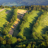 Aerial view of Vineyard Royalty Free Stock Photography