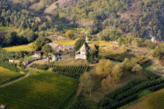 Aerial view of vineyard Stock Photos